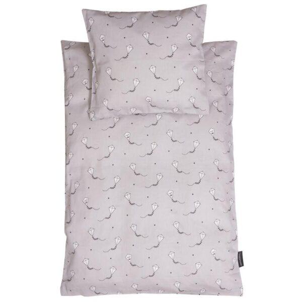 Baby sengetøj, grå drage
