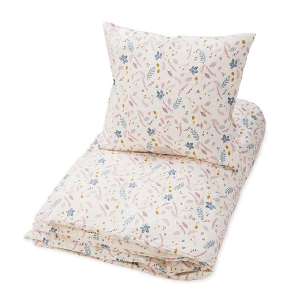Cam Cam Copenhagen Økologisk junior sengetøj 100x140 - Pressed Leaves Rose