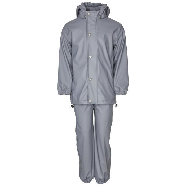 En Fant Rainwear Set Solid - Flint Stone - Str. 86