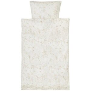 Fluffy sky bed linen babysengetøj fra Soft Gallery Smuktcremefarvet bed linen baby sengetøj fra danske Soft Gallery med super flottekarrygule oggrå nuancer. Sengetøjet er super blødt og består af både et flot og lækkert dyne- og pudebetræk. Både