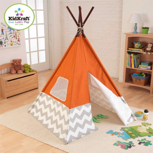 Kid Kraft Indianer Telt Tipi Orange