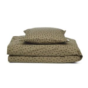 Liewood sengetøj, junior 100x140 - INGEBORG - Graphic Stroke/Khaki