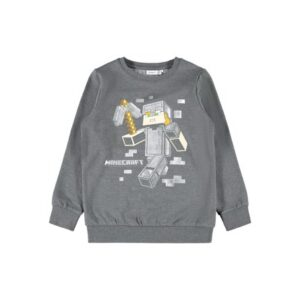 NAME IT Minecraft Sweatshirt Ismail Grey