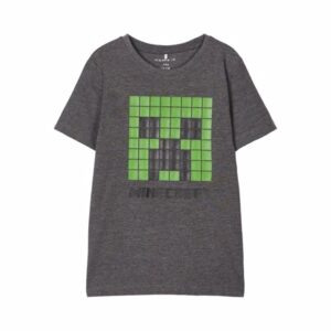 NAME IT Minecraft Tee Andre Dark Grey