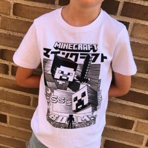 NAME IT Minecraft Tee Bright White - Tøjstørrelser: 116