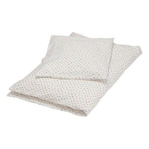 Offwhite dot junior sengetøj fra Popirol Smukt cremefarvet bed linen junior sengetøj fra danske Popirol med det fineste print. Sengetøjet er super blødt og er fremstillet i 100% jersey. Sættet består af både et flot og lækkert dyne- og pudebetræk. Både