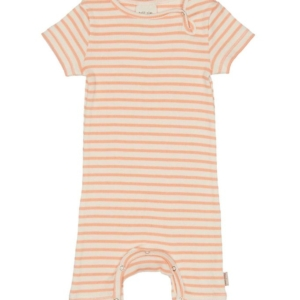 Petit Piao Sommerdragt - Modal Striped - Peach Naught/Eggnog