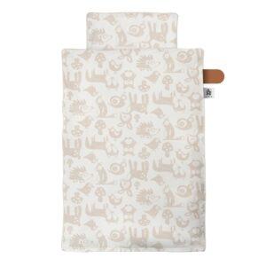 Sebra junior sengetøj Forest - straw beige