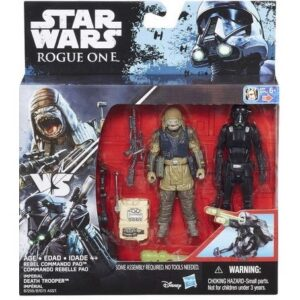 Star Wars Rouge One Twin Rebel Commando Pao & Death Trooper Figurer 9,5 cm