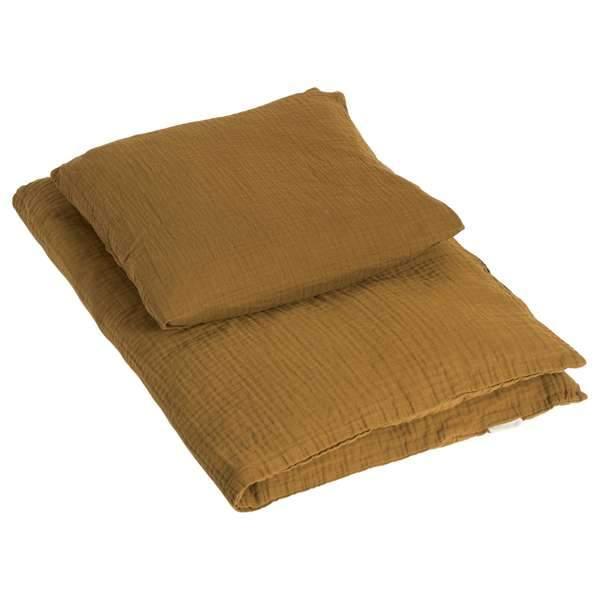 by KlipKlap Baby sengetøj 70x100 - Golden Brown