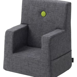 by KlipKlap Lænestol - Kids Chair - Blue Grey/Green